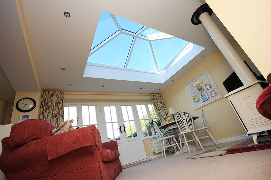 Larger White Roof Lantern